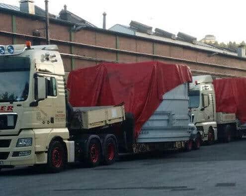 Lutter Spedition NRW - Betriebsumzüge - Maschinentransport - Logistik - Transport einer Maschine