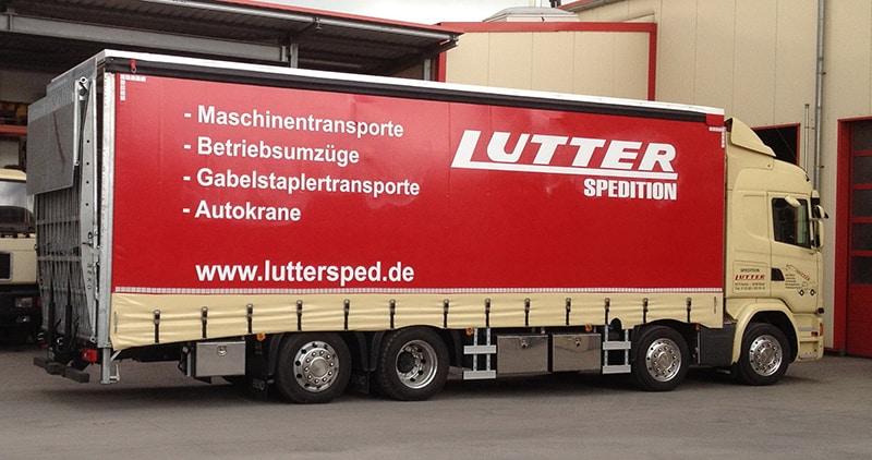 Lutter Spedition NRW - Betriebsumzüge - Maschinentransport - Logistik - LKW-Anhänger