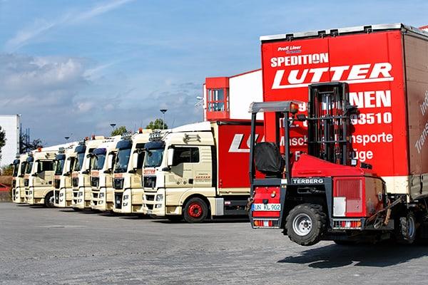Lutter Spedition NRW - Betriebsumzüge - Maschinentransport - Logistik - individueller Fuhrpark für Transporte aller Art