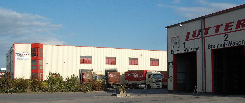 Firmengebäude der Lutter Spedition NRW - Betriebsumzüge - Maschinentransport - Logistik