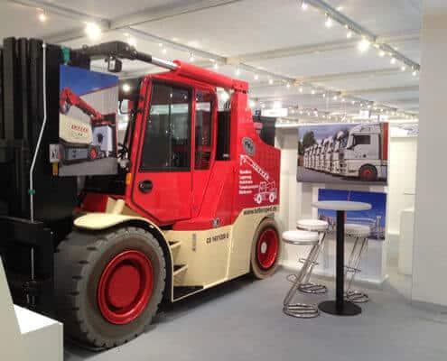 Lutter Spedition NRW - Betriebsumzüge - Maschinentransport - Logistik - Elektro-Kompaktstapler für schwere Transporte auf engstem Raum