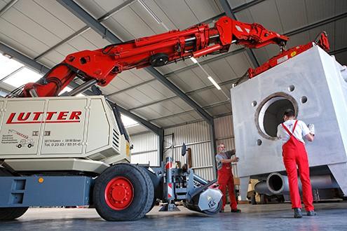 Lutter Spedition NRW - Betriebsumzüge - Maschinentransport - Logistik - Umsetzen einer Maschine