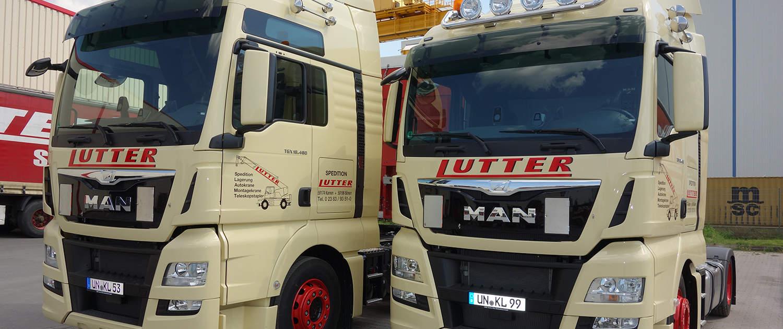 Lutter Spedition NRW - Betriebsumzüge - Maschinentransport - Logistik - flexible Transporte mit eigenem Fuhrpark