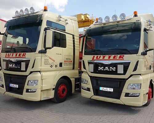 Lutter Spedition NRW - Betriebsumzüge - Maschinentransport - Logistik - Übernahme von internationalen Transporten